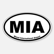 Miami International Airport Oval Decal