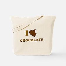 I Love [Heart] Chocolate Tote Bag