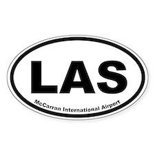 McCarran International Airport Oval Decal