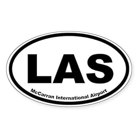 McCarran International Airport Oval Sticker