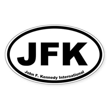 John F. Kennedy International Oval Sticker