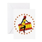 Sexy Girl Spain 1 Greeting Cards (Pk of 10)