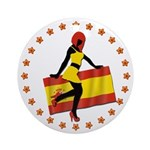 Sexy Girl Spain 1 Ornament (Round)