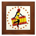 Sexy Girl Spain 1 Framed Tile