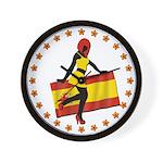 Sexy Girl Spain 1 Wall Clock