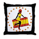 Sexy Girl Spain 1 Throw Pillow