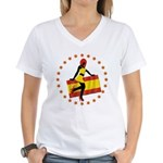 Sexy Girl Spain 1 Women's V-Neck T-Shirt