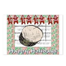 Gingerbread Drum Postcards (Package of 8)