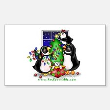 Family Christmas Rectangle Decal