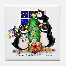 Family Christmas Tile Coaster