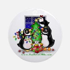 Family Christmas Ornament (Round)
