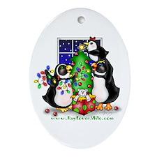 Family Christmas Oval Ornament
