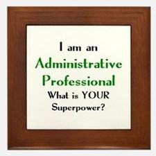 administrative professional Framed Tile