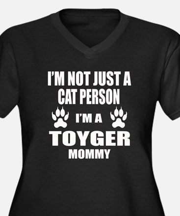 I'm a Toyger Women's Plus Size V-Neck Dark T-Shirt