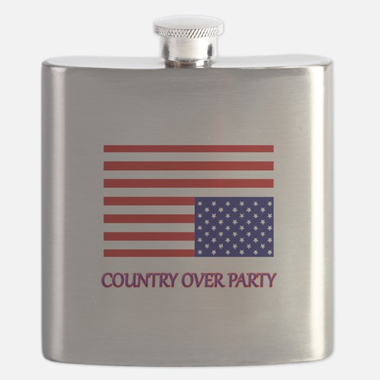 COUNTRY OVER PARTY - FLAG IN DISTRESS Flask