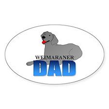 Weimaraner Dad Oval Decal