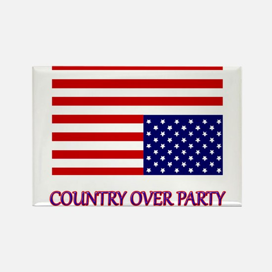 COUNTRY OVER PARTY - FLAG IN DIST Rectangle Magnet