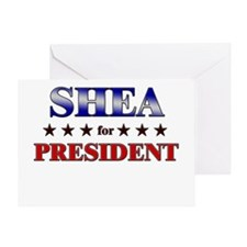 SHEA for president Greeting Card