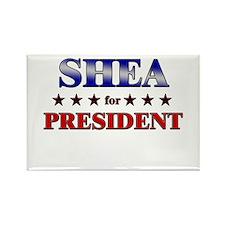 SHEA for president Rectangle Magnet
