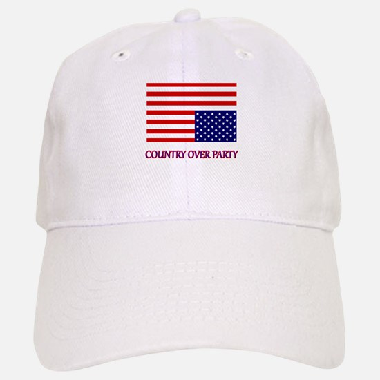 COUNTRY OVER PARTY - FLAG IN DISTRESS Baseball Baseball Cap