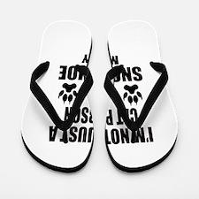 I'm a Snowshoe Mommy Flip Flops