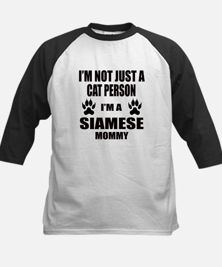 I'm a Siamese Mommy Kids Baseball Jersey