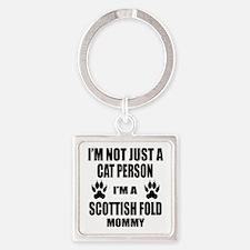 I'm a Scottish Fold Mommy Square Keychain