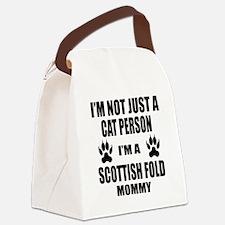 I'm a Scottish Fold Mommy Canvas Lunch Bag