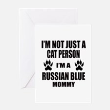 I'm a Russian Blue Mommy Greeting Card