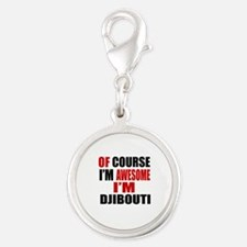 Of Course I Am Djibouti Silver Round Charm