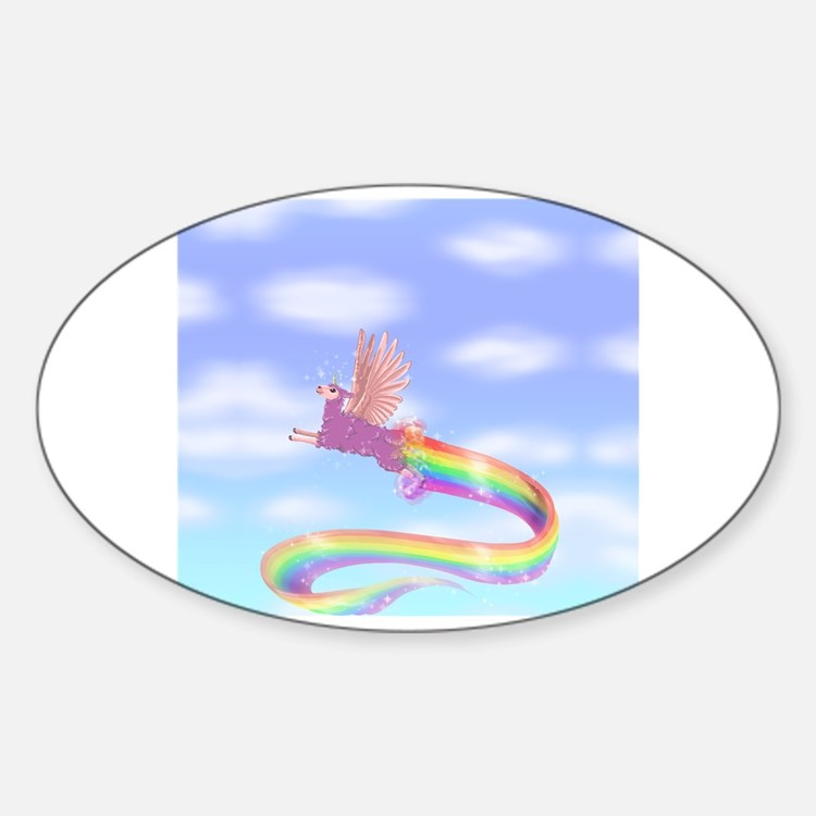 Cute Angi Sticker (Oval)