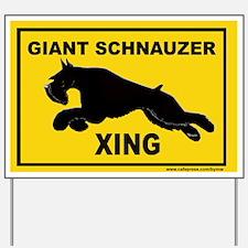 Unique Riesenschnauzer Yard Sign