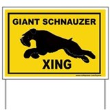 Giant schnauzer sign Yard Signs