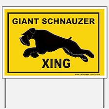 Cute Riesenschnauzer Yard Sign