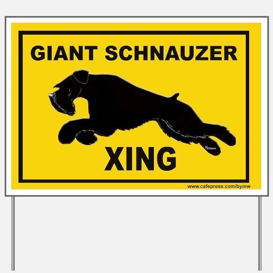 Funny Giant schnauzer Yard Sign