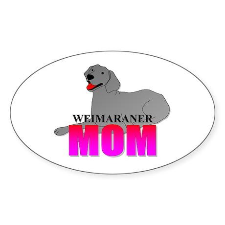 Weimaraner Mom Oval Sticker