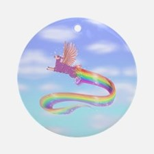 Allamacorn Sky Round Ornament