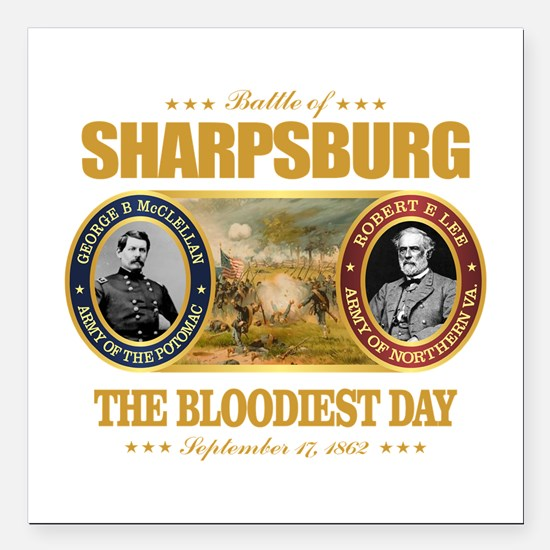 "Sharpsburg Square Car Magnet 3"" x 3"""