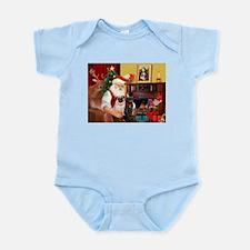 Santa's Two Pugs (P1) Infant Bodysuit