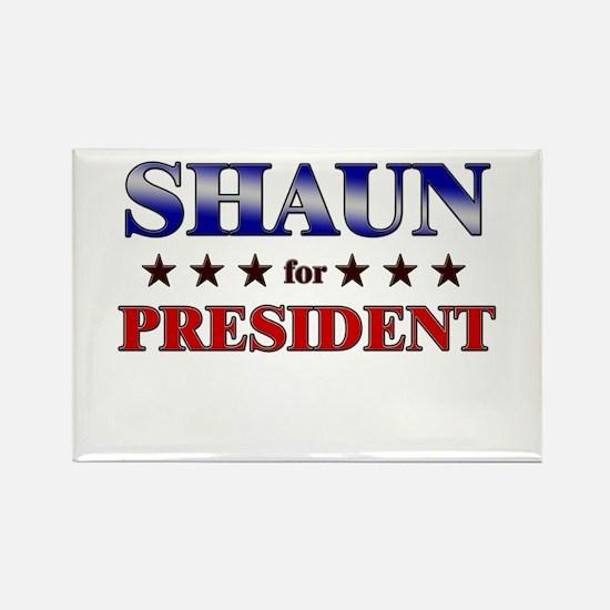 SHAUN for president Rectangle Magnet
