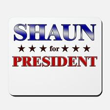 SHAUN for president Mousepad