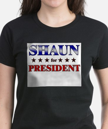 SHAUN for president Women's Dark T-Shirt