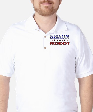 SHAUN for president Golf Shirt