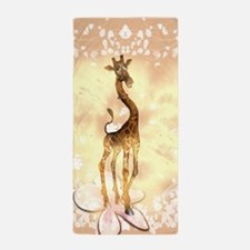 Cute giraffe Beach Towel