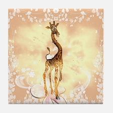 Cute giraffe Tile Coaster