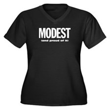 Modest and proud of it Women's Plus Size V-Neck Da