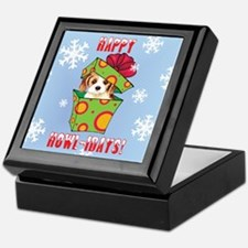 Holiday Cavalier Keepsake Box