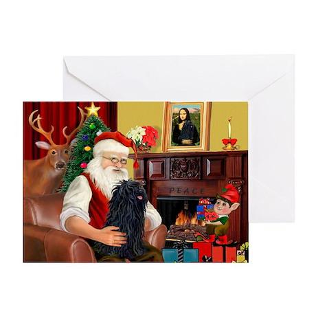 Santa's Puli Greeting Card