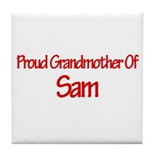 Proud Grandmother of Sam Tile Coaster