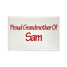 Proud Grandmother of Sam Rectangle Magnet